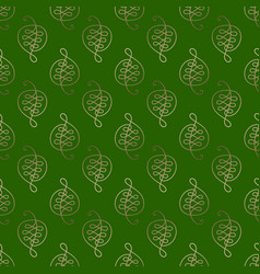 pattern of leafs vector image vector image