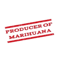 Producer of marihuana watermark stamp vector