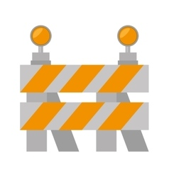 Road barrier stop warning light vector