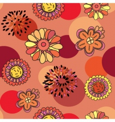 round floral vector image