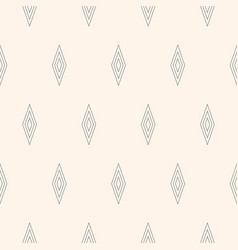 seamless pattern subtle texture rhombuses lines vector image vector image