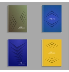 Set covers for magazine of colored stripes vector