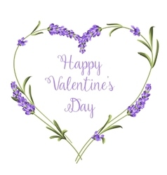 Set of lavender vector image
