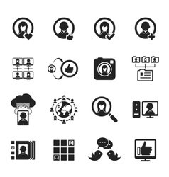 Social media and social network icons vector image vector image