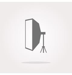 Softbox icon softbox icon flat softbox icon vector