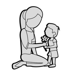 son gift flower mother image vector image