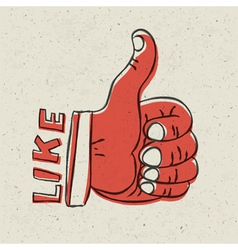 thumb up like symbol vector image vector image