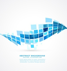 Abstract blue mosaic wave vector
