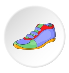 Athletic shoe icon cartoon style vector