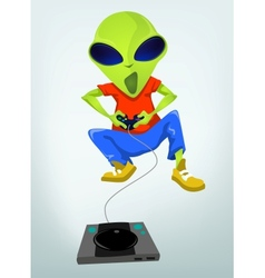 Cartoon videogame alien vector