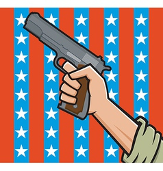 american pistol vector image