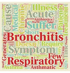 Issues on Asthmatic Bronchitis text background vector image