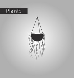 Black and white style icon flower pot vector