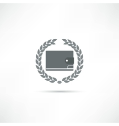 Purse icon vector