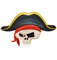 Pirate skull head vector