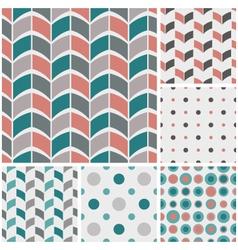 Retro style geometric patterns vector