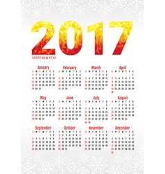 2017 office calendar vector