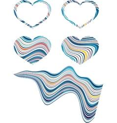 valentines heart frame vector image
