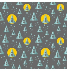Seamless pattern with rocket in the space vector
