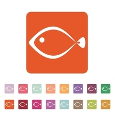 The fish icon seafood symbol flat vector