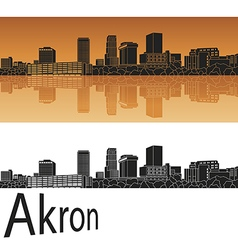 Akron skyline in orange vector