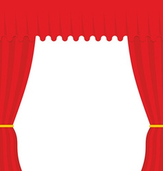 Empty scene red curtain outdoor theatre curtain vector