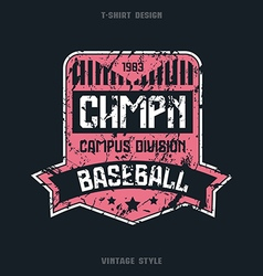 Baseball team badge vector