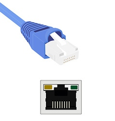 Ethernet cable port vector
