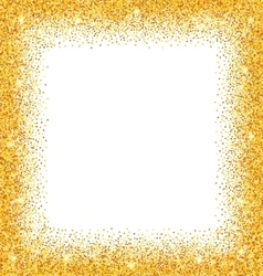 Abstract golden frame with sparkles on white vector