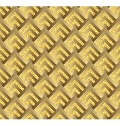Golden check square plaid seamless vector image