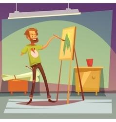 Disabled artist vector