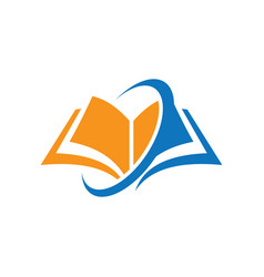 book education arrow logo vector image