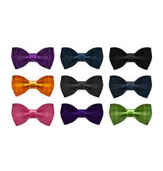 Bow tie collection bowtie necktie symbol or icon vector