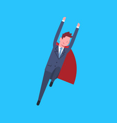 Business man wearing red hero cape businessman vector