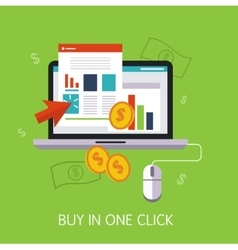 Buy In One Click Concept Art vector image