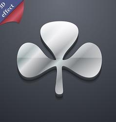 Clover icon symbol 3D style Trendy modern design vector image