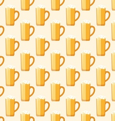 Colored beer mug seamless pattern vector