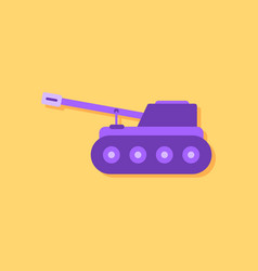 Flat icon design collection military tank in vector