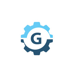 Gear solution logo initial g vector