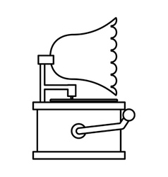 Gramophone sound device icon vector