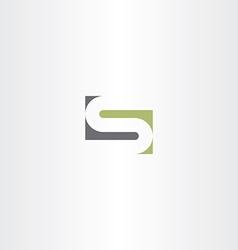 Green gray letter s stylized design vector