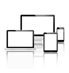 Mobile devices set vector image