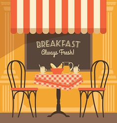 Modern flat design of street cafe vector