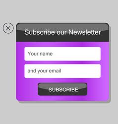 News subscription window vector