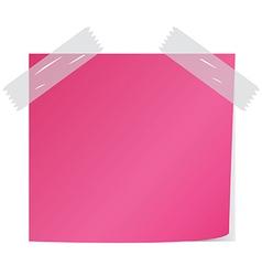 Pink post it vector