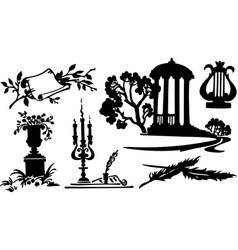 Poetry symbols vector