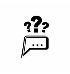 Question icon simple style vector image vector image