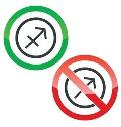 Sagittarius permission signs vector