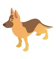 Shepherd dog icon cartoon style vector