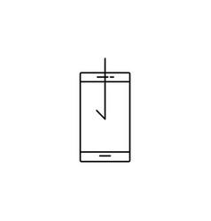 Smartphone download icon vector